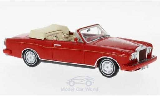 Bentley Continental T 1/43 Spark Convertible red RHD 1984 diecast