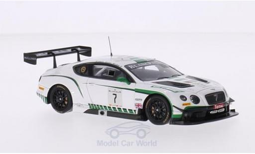 Bentley Continental T 1/43 Spark GT3 No.7 M-Sport 24h Spa 2015 G.Smith/A.Meyrick/S.Kane modellautos