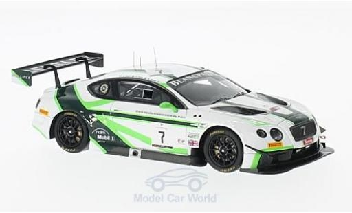 Bentley Continental T 1/43 Spark GT3 RHD No.7 Team M-Sport 24h Spa 2016 G.Smith/V.Abril/S.Kane diecast