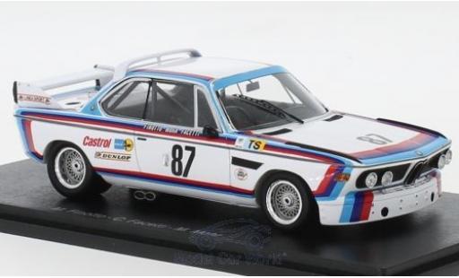 Bmw 3.0 1/43 Spark CSL No.87 24h Le Mans 1974 M.Finotto/C.Facetti/M.Mohr miniature