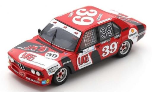 Bmw 530 1/43 Spark i (E12) No.39 JMS Racing Team 24h Spa Francorchamps 1980 C.Ballot-Lena/J-C.Andruet/J-M.Smadja diecast model cars