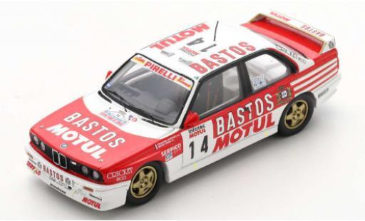 Bmw M3 1/43 Spark (E30) No.14 Bastos Rallye WM Tour de Corse 1989 F.Chatriot/M.Perin coche miniatura