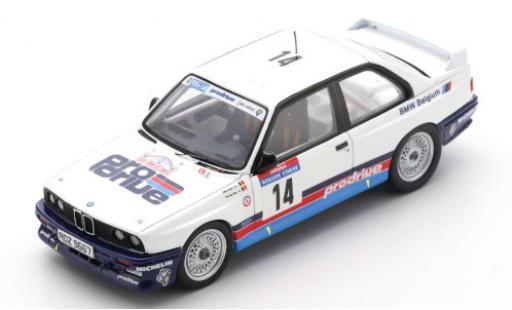 Bmw M3 1/43 Spark (E30) No.14 Belgium ProDrive Rallye WM Tour de Corse 1987 M.Duez/G.Biar miniature
