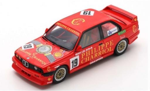 Bmw M3 1/43 Spark (E30) No.19 Ghiaspeed Philippe Charriol Macau Guia Race 1991 H.Lee Jr.