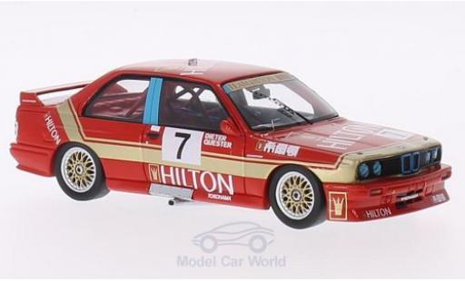 Bmw M3 E30 1/43 Spark  No.7 Team Hilton Hilton GP Macau 1987 D.Quester miniature