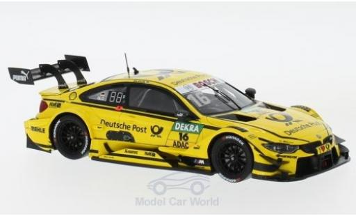 Bmw M4 1/43 Spark BMW DTM No.16 BMW Team RMR Deutsche Post DTM Hockenheim 2017 T.Glock miniature