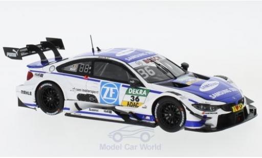 Bmw M4 1/43 Spark BMW DTM No.36 BMW Team RBM Samsung DTM Hockenheim 2017 M.Martin miniature