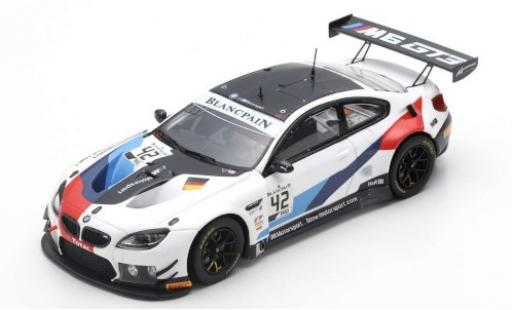 Bmw M6 1/43 Spark GT3 No.42 Team Schnitzer 24h Spa 2019 M.Tomczyk/J.Edwards/A.Farfus miniature