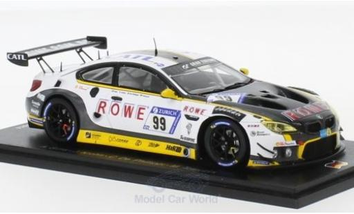 Bmw M6 1/43 Spark GT3 No.99 Rowe Racing 24h Nürburgring 2018 A.Sims/J.Krohn/C.de Phillippi/M.Tomczyk diecast