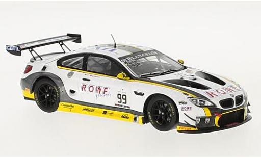 Bmw M6 1/43 Spark GT3 No.99 Rowe Racing 24h Spa 2016 A.Sims/P.Eng/M.Martin miniature