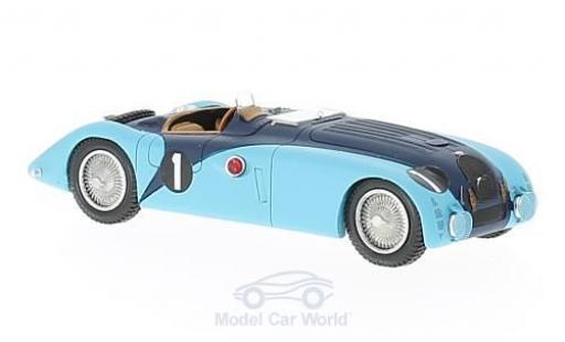 Bugatti 57 S 1/43 Spark G RHD No.1 24h Le Mans 1937 R.Labric/P.Veyron miniature