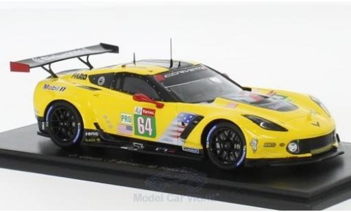 Chevrolet Corvette 1/43 Spark C7.R No.64 Racing 24h Le Mans 2018 O.Gavin/T.Milner/M.Fässler diecast model cars