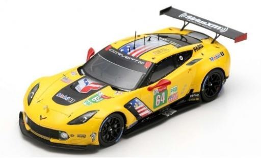 Chevrolet Corvette 1/43 Spark C7.R No.64 Racing 24h Le Mans 2019 O.Gavin/T.Milner/M.Fässler diecast model cars