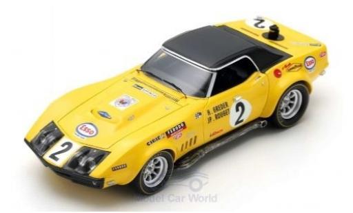 Chevrolet Corvette 1/43 Spark No.2 24h Le Mans 1970 H.Greder/J.P.Rouget miniature