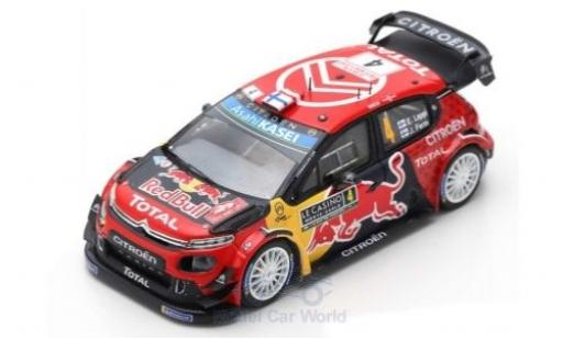 Citroen C3 1/43 Spark WRC No.4 Total WRT Red Bull WRC Rally Monte Carlo 2019 E.Lappi/J.Ferm diecast model cars
