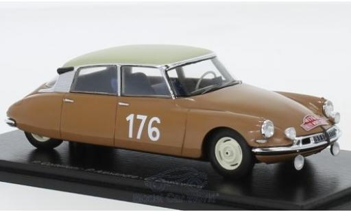 Citroen ID 19 1/43 Spark No.176 Rallye Monte Carlo 1959 P.Coltelloni/P.Alexandre/C.Desrosiers miniature