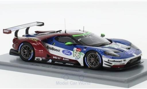 Ford GT 1/43 Spark No.66 Chip Ganassi Team UK 24h Le Mans 2018 S.Mücke/O.Pla/B.Johnson miniature