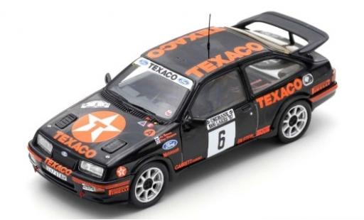 Ford Sierra 1/43 Spark RS Cosworth No.6 Texaco 1000 Lakes Rallye 1987 A.Vatanen/T.Harryman diecast model cars