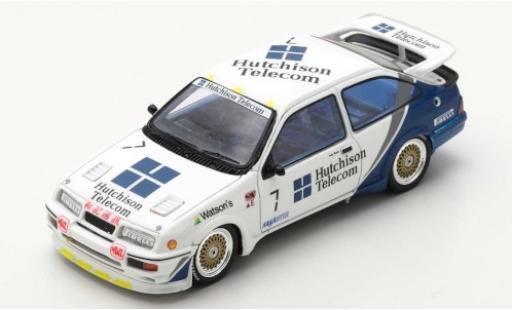 Ford Sierra 1/43 Spark RS500 Cosworth No.7 Hutchison Telecom Macau Guia Race 1989 A.Rouse diecast model cars