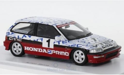 Honda Civic 1/43 Spark (EF9) Gr. N RHD No.1 Suzuka Test 1990 A.Senna diecast model cars