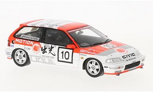 Honda Civic 1/43 Spark EF9 RHD No.10 Macau Guia Race 1990 O.Nakako
