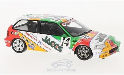 Honda Civic 1/43 Spark EF9 RHD No.14 JTC Okayama 1992 N.Hattori/K.Kaneishi diecast