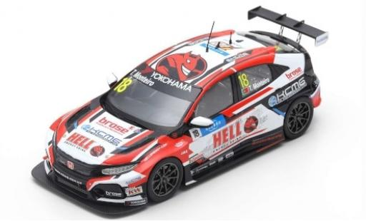 Honda Civic 1/43 Spark Type R TCR No.18 KCMG Hell Energy Drink WTCR Villa Real 2019 T.Monteiro diecast model cars