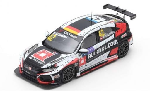Honda Civic 1/43 Spark Type R TCR No.42 WTCR Macau Guia Race 2018 T.Scheider diecast model cars