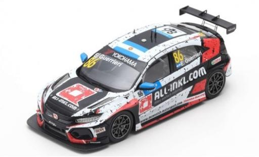 Honda Civic 1/43 Spark Type R TCR No.86 Münnich Motorsport ALL-INKL.-COM WTCR Marrakesh 2019 E.Guerrieri diecast model cars