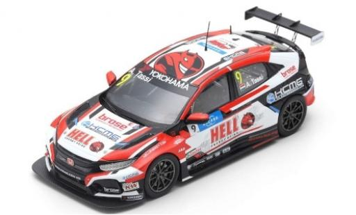 Honda Civic 1/43 Spark Type R TCR No.9 KCMG Hell Energy Drink WTCR Nürburgring 2019 A.Tassi miniature