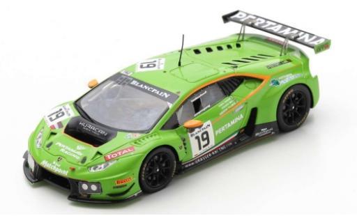 Lamborghini Huracan 1/43 Spark GT3 No.19 GRT - Grasser Racing Team 24h Spa Francorchamps 2015 A.Palmer/J.Mul/F.Babini miniature