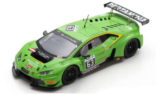 Lamborghini Huracan 1/43 Spark GT3 No.63 GRT Grasser Racing Team 24h Spa 2016 D.Alessi/N.Pohler/A.Fjordbach/D.Andersen diecast model cars