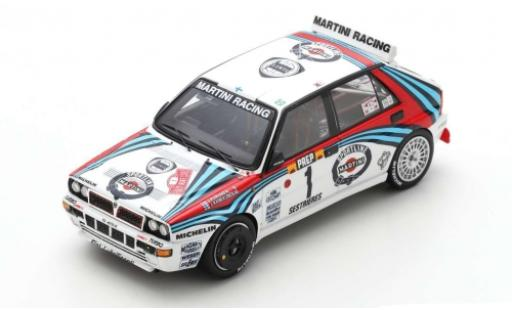 Lancia Delta 1/43 Spark HF Integrale No.1 Martini Racing Martini Racing Rallye-Cross Rally Monte Carlo 1992 J.Kankkunen/J.Piironen miniature