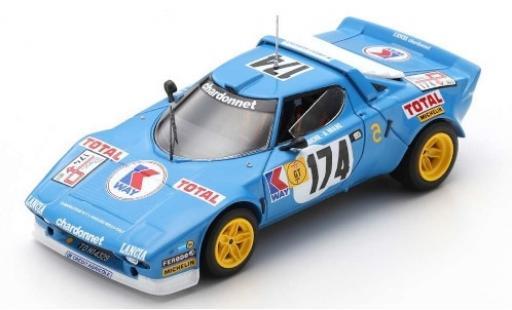 Lancia Stratos 1/43 Spark HF No.174 Chardonnet KWay Tour de France Auto 1977 B.Darniche/A.Mahe miniature