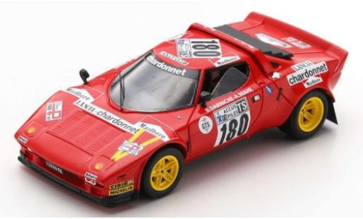Lancia Stratos 1/43 Spark No.180 Chardonnet Tour de France Auto 1975 B.Darniche/A.Mahe diecast model cars