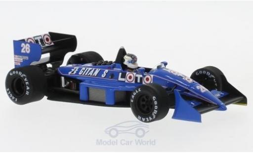 Ligier JS3 1/43 Spark 1 No.26 GP Detroit 1988 S.Johansson diecast model cars