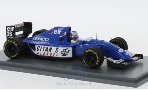 Ligier JS3 1/43 Spark 9B No.26 Gitanes Formel 1 GP Kanada 1994 mit Decals O.Panis diecast model cars