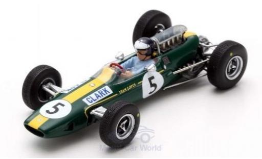Lotus 33 1/43 Spark No.5 Formel 1 GP Großbritannien 1965 J.Clark miniature
