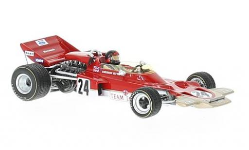 Lotus 72 1/43 Spark C No.24 Gold Leaf Formel 1 GP USA 1970 avec Decals E.Fittipaldi miniature
