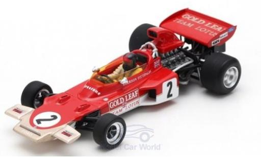 Lotus 72 1/43 Spark D No.2 Gold Leaf Formel 1 GP Österreich 1971 mit Decals E.Fittipaldi diecast model cars
