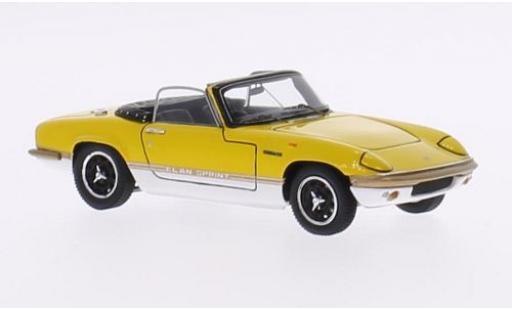 Lotus Elan 1/43 Spark Sprint DHC yellow/white RHD diecast model cars