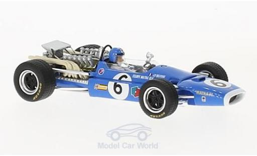 Matra MS1 1/43 Spark 1 No.6 Formel 1 GP Frankreich 1968 J-P.Beltoise diecast model cars