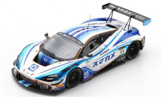 McLaren 720 1/43 Spark S GT3 No.11 Planex Smacam Racing 10H Suzuka 2019 M.Hakkinen/K.Kubota/H.Ishiura diecast model cars