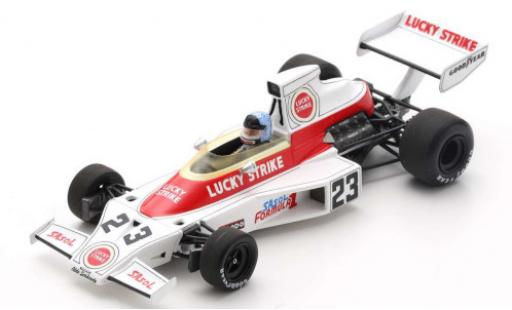 McLaren M23 1/43 Spark No.23 Lucky Strike Formel 1 GP Südafrika 1974 D.Charlton miniature