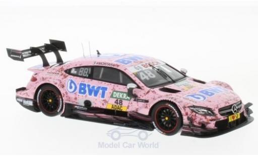 Mercedes Classe C DTM 1/43 Spark AMG C 63 DTM No.48 -AMG DTM Team HWA BWT DTM 2017 E.Mortara diecast