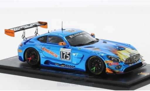 Mercedes AMG GT 1/43 Spark 3 No.175 Sun Energy 1 Team HTP Motorsport 24h Spa 2018 K.Habul/B.Schneider/T.Jäger/M.Konrad miniature