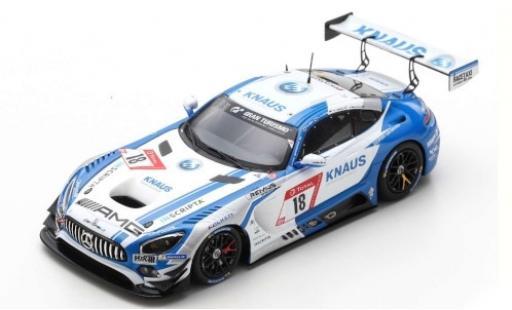 Mercedes AMG GT 1/43 Spark 3 No.18 GetSpeed Performance Knaus 24h Nürburgring 2019 F.Vettel/P.Ellis/L.Ludwig/J.Szymkowiak miniature