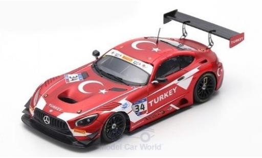 Mercedes AMG GT 1/43 Spark 3 No.34 RAM Racing FIA GT Nations Cup Bahrain 2018 Team Turkey S.Yoluc/A.Güven diecast model cars