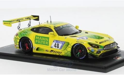 Mercedes AMG GT 1/43 Spark 3 No.48 -AMG Team Mann Filter 24h Nürburgring 2018 C.Hohenadel/I.Dontje/M.Götz/R.van der Zande miniature