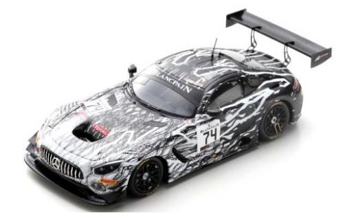Mercedes AMG GT 1/43 Spark 3 No.74 Ram Racing 24h Spa 2019 R.Vos/D.Burke/C.Frankenhout/T.Onslow-Cole diecast model cars